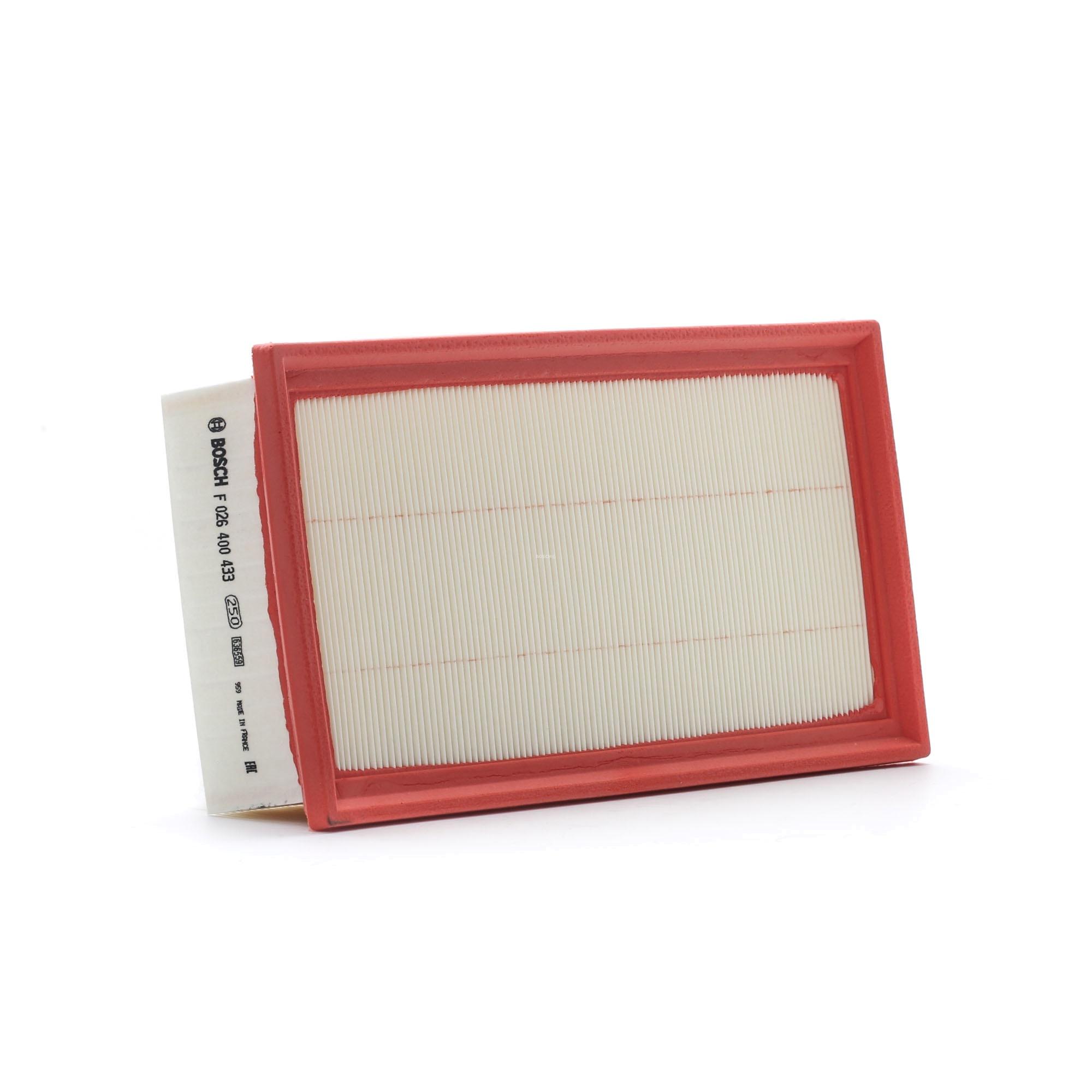 Achetez Filtre à air BOSCH F 026 400 433 (Longueur: 298mm, Longueur: 298mm, Largeur: 161mm, Hauteur: 61mm) à un rapport qualité-prix exceptionnel
