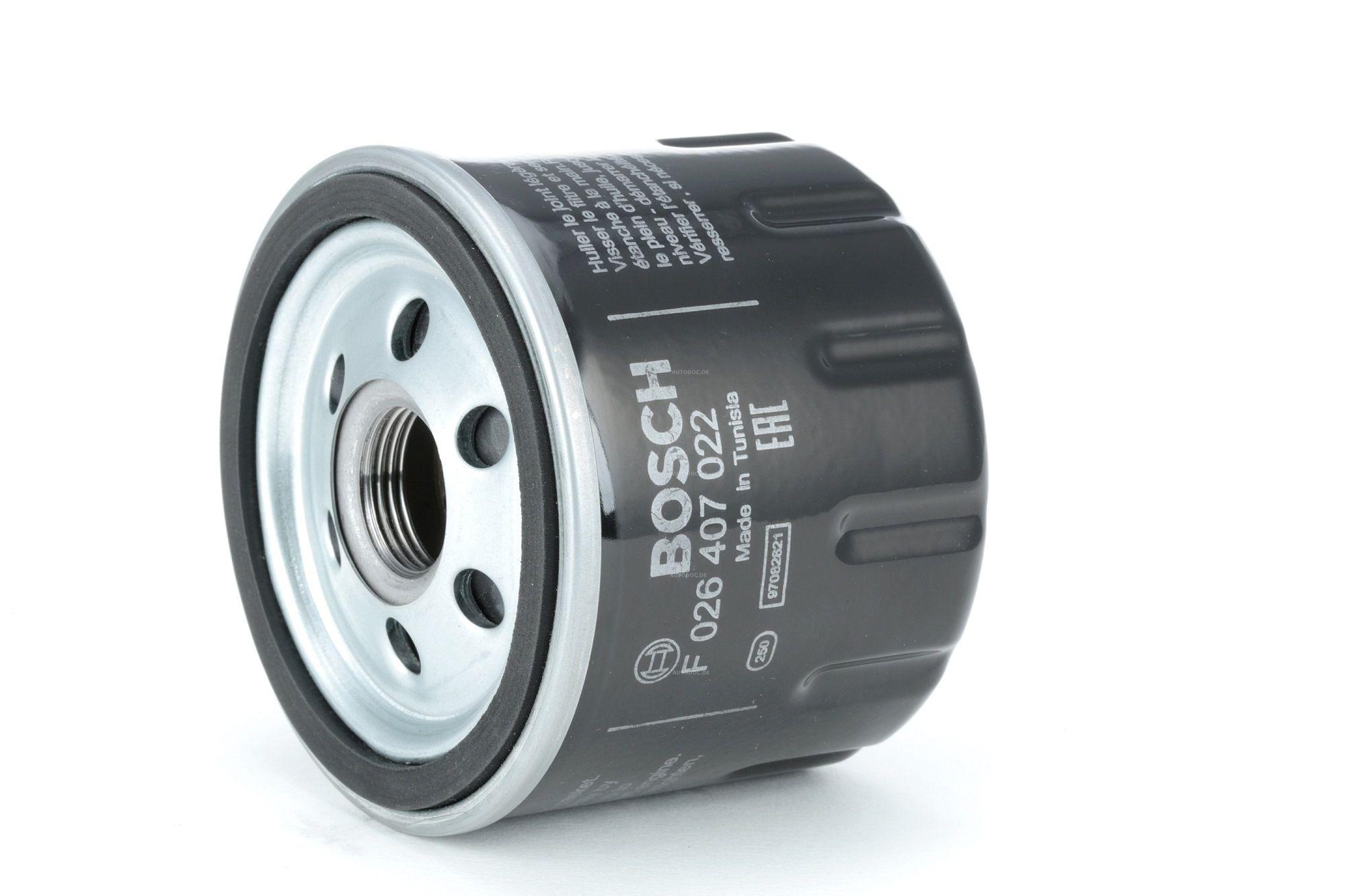 BOSCH: Original Motorölfilter F 026 407 022 (Ø: 78mm, Höhe: 65mm)