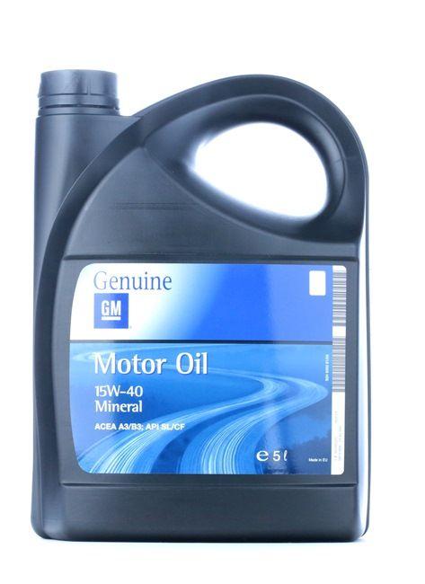 Hochwertiges Öl von OPEL GM 93165220 15W-40, 15W-40, 5l, Mineralöl