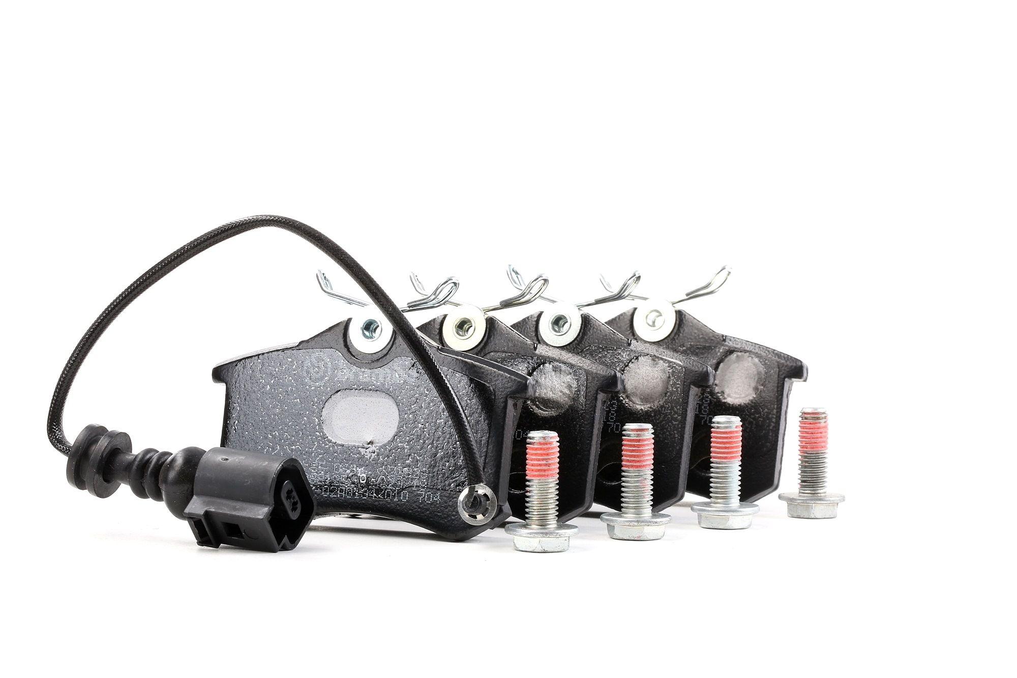 D19819209 BREMBO con contacto avisador de desgaste, con tornillos pinza freno Altura: 53mm, Ancho: 87mm, Espesor: 17,2mm Juego de pastillas de freno P 85 066 a buen precio