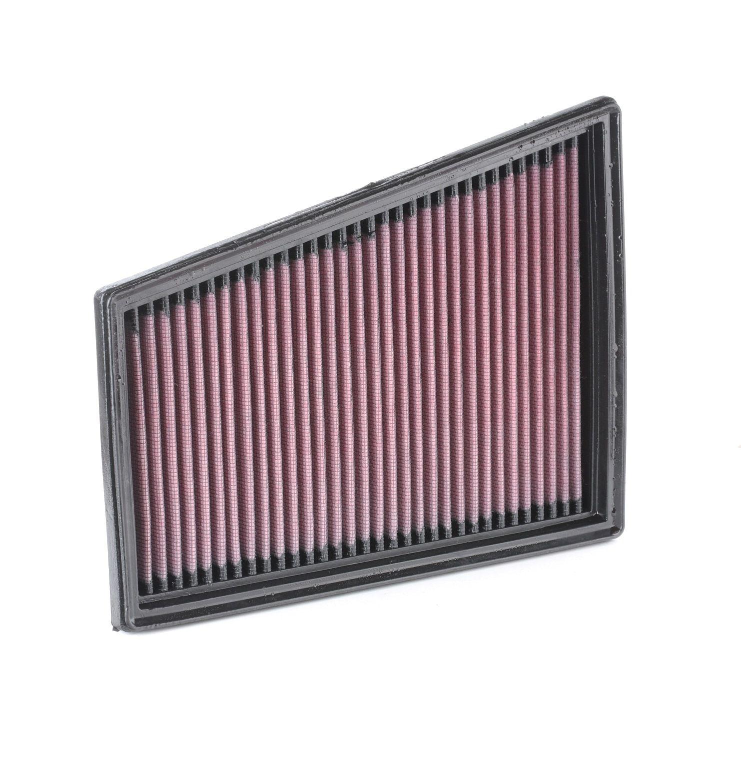 K&N Filters: Original Motorluftfilter 33-2849 (Länge: 244mm, Länge: 244mm, Breite: 191mm, Höhe: 32mm)