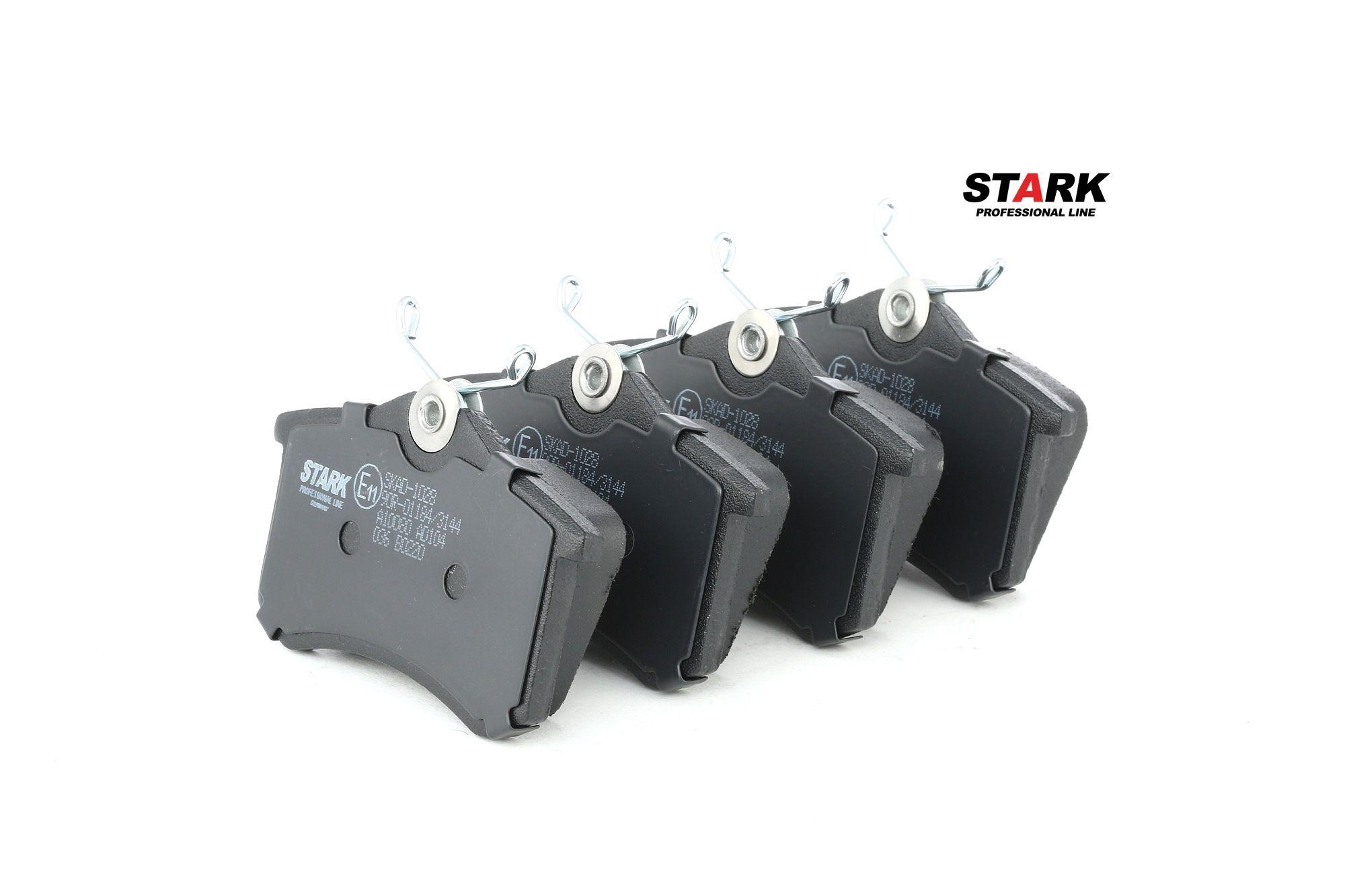 Pieces detachees PEUGEOT 207 2016 : Kit de plaquettes de frein, frein à disque STARK SKAD-1028 Hauteur: 53mm, Largeur: 87mm, Épaisseur: 17,2mm - Achetez tout de suite!