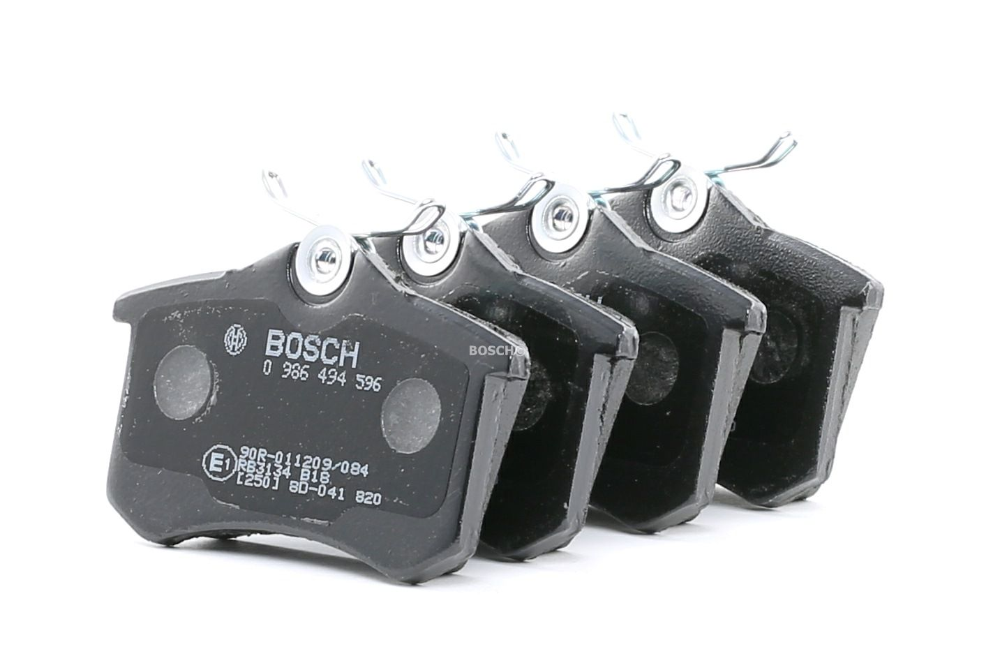 Peugeot 308 2019 Brake pad set disc brake BOSCH 0 986 494 596: with anti-squeak plate, with bolts/screws, with mounting manual
